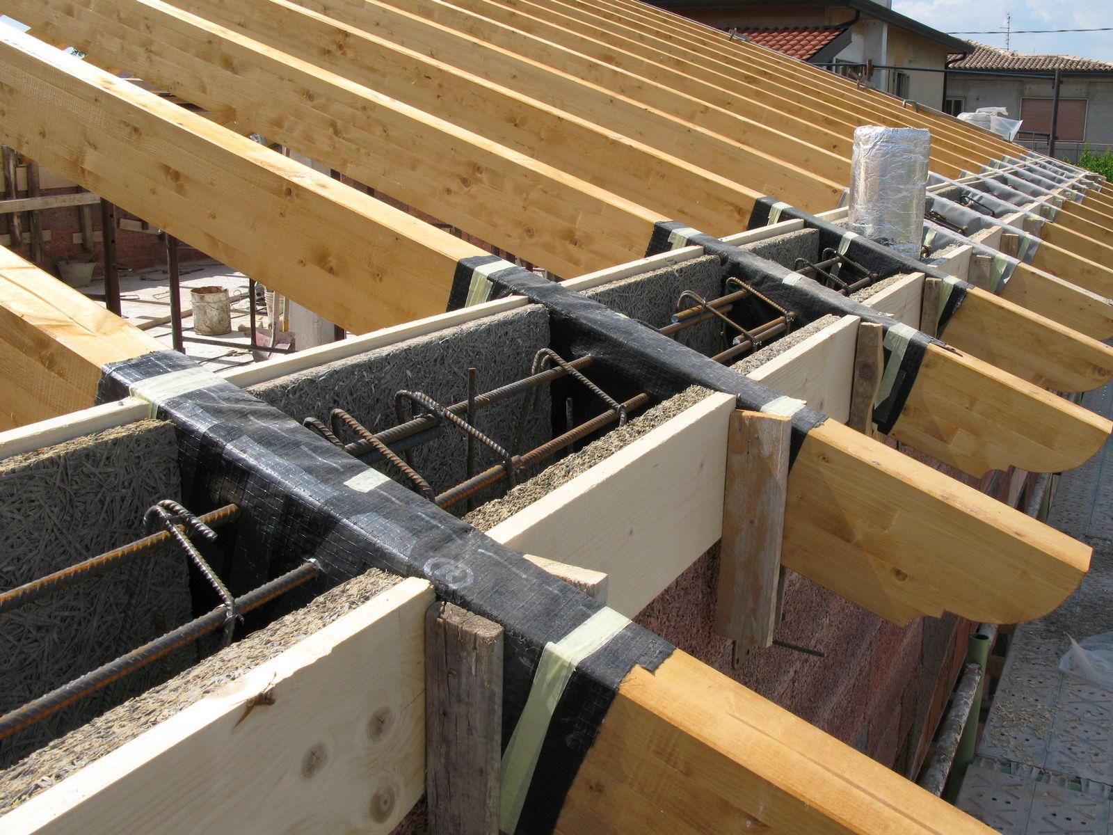 Costruire Tetto In Cemento costruzione unifamiliare in legno blocco a fossona